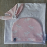Picture of roze set speendoek/muts Hertje