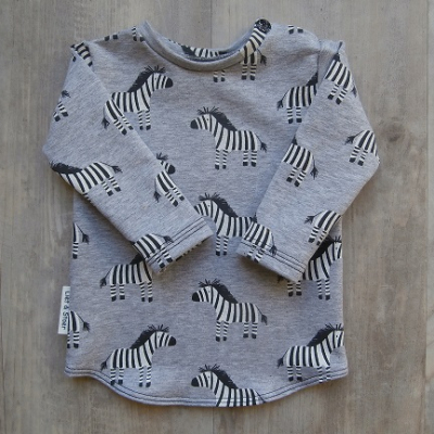 Picture of grijs shirt Zebra maat 56